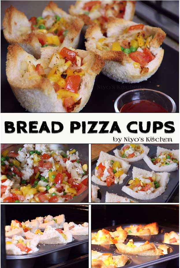 bread pizza cup